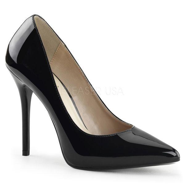 Klassische schwarze High Heel Lack Pumps AMUSE-20